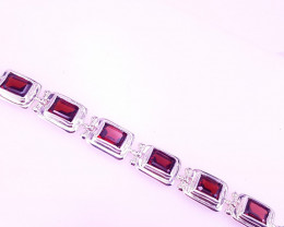 Natural Rhodolite Garnet Bracelet