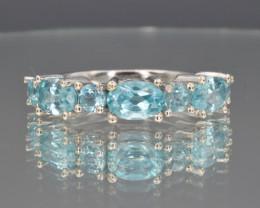 Natural Apatite and 925 Silver Ring