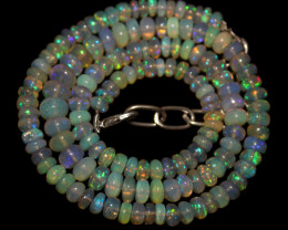 80 Crt Natural Ethiopian Welo Opal Necklace 63