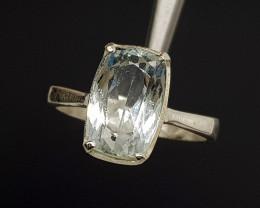 Natural Blue Aquamarine 16.40 Carats 925 Silver Ring