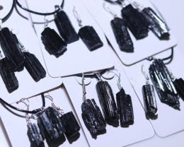 Six sets Holistic black Tourmaline 18 pc Jewelry Set BRBT2-6