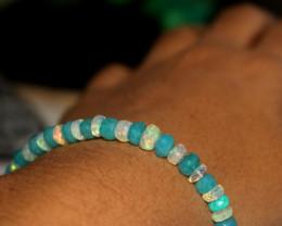 27 Crt Natural Ethiopian Welo Faceted Opal Bracelet 62
