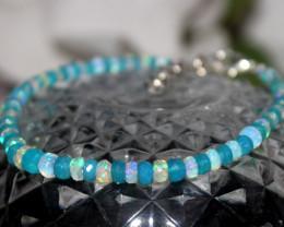 16 Crt Natural Ethiopian Welo Faceted Opal Bracelet 228