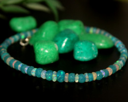 24 Crt Natural Ethiopian Welo Faceted Opal Bracelet 232