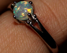 Natural Ethiopian Welo Opal 925 Silver Ring 20