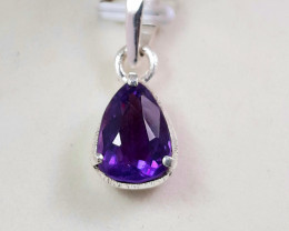 15 carat beautiful purple Amethyst 925 silver pendant, 12x9x6 mm