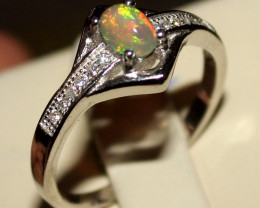 Natural Ethiopian Welo Opal 925 Silver Ring 5