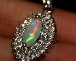 Natural Ethiopian Welo Opal 925 Silver Pendant 23