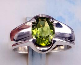 Natural Peridot Ring.