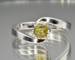 Natural Tourmaline and 925 Silver Ring