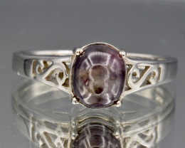 Natural Star Sapphire and 925 Silver Ring