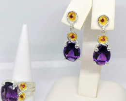 Amethyst and Ruby Set 20.00 TCW