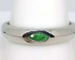Kagem Emerald Solitaire Ring 0.20ct.