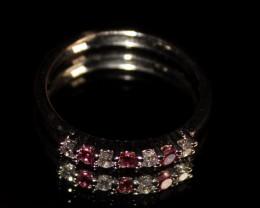 Natural Garnet 925 Silver Ring 231