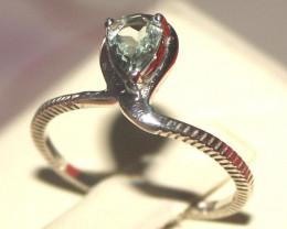 Natural Aquamarine 925 Silver Ring 124