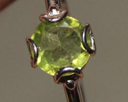 Natural Peridot 925 Silver Ring 6