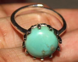 Natural Turquoise 925 Silver Ring 93