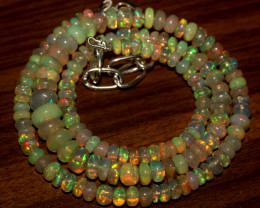 60 Crt Natural Ethiopian Welo Opal Necklace 447