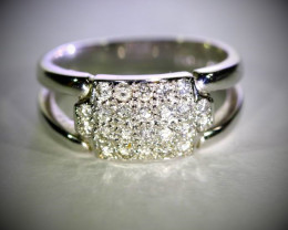 Diamonds 1.00ct Solid 18K White Gold Ring
