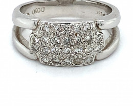 Diamonds .50ct Solid 18K White Gold Ring