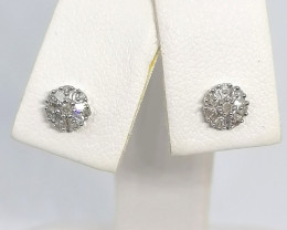 Diamond Cluster Earrings 0.15 TCW
