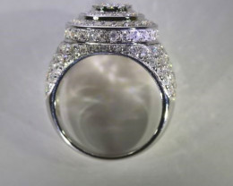 Diamonds 5.40ct Solid 14K White Gold Ring