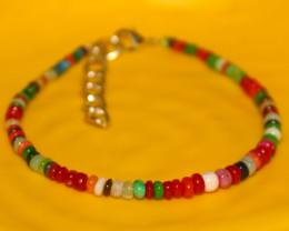 16 Crts Natural Ethiopian Welo Multi Color Opal Bracelet 270