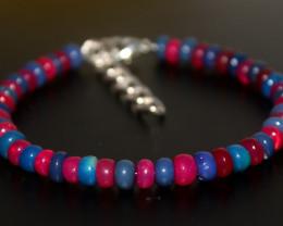 40 Crts Natural Ethiopian Welo Multi Color Opal Bracelet 267