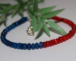 22 Crts Natural Ethiopian Welo Multi Color Opal Bracelet 264