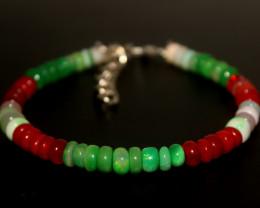 39 Crts Natural Ethiopian Welo Multi Color Opal Bracelet 272