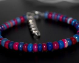 34 Crts Natural Ethiopian Welo Multi Color Opal Bracelet 261