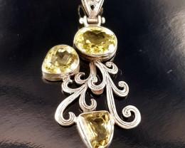 Antique Design Natural Lemon Quartz Pendant