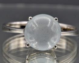 Natural Aquamarine and 925 Silver Ring