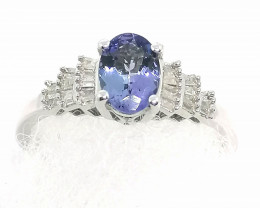 Tanzanite and Diamond Ring 1.00 TCW