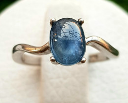 13ct Natural Heated Sapphire In 925 silver Ring.