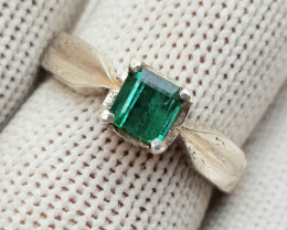 28ct Natural Amazing Tourmaline in Silver Handmade Ring.