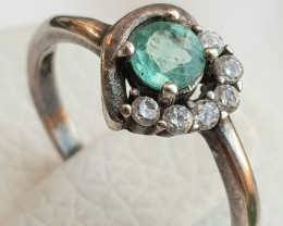 12ct natural Apatite In 925 sterling Silver Ring.