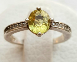 14ct Natural Mali Garnet In 925 Sterling Silver Ring.
