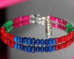 24 Crts Natural Ethiopian Welo Multi Color Opal Bracelet 286