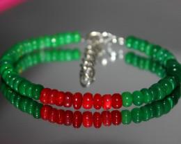 37 Crts Natural Ethiopian Welo Multi Color Opal Bracelet 290