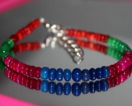 29 Crts Natural Ethiopian Welo Multi Color Opal Bracelet 296