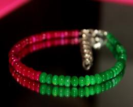 24 Crts Natural Ethiopian Welo Multi Color Opal Bracelet 300