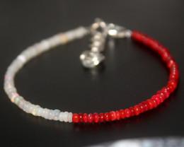13 Crts Natural Ethiopian Welo Multi Color Opal Bracelet 260