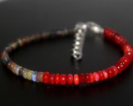 22 Crts Natural Ethiopian Welo Multi Color Opal Bracelet 277