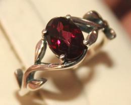 Natural Garnet 925 Silver Ring 48