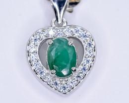 14.45 Crt Natural Emerald  925 Silver Pendant