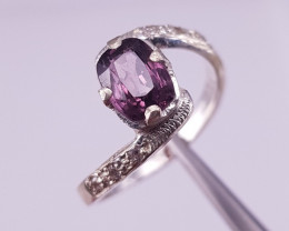 Natural Spinel and CZ Ring