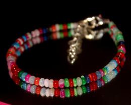 20 Crts Natural Ethiopian Welo Multi Color Opal Bracelet 318