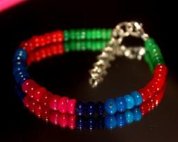 30 Crts Natural Ethiopian Welo Multi Color Opal Bracelet 317