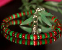 30 Crts Natural Ethiopian Welo Multi Color Opal Bracelet 302